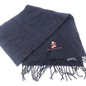 Vintage Ralph Lauren Wool Teddy Bear Scarf